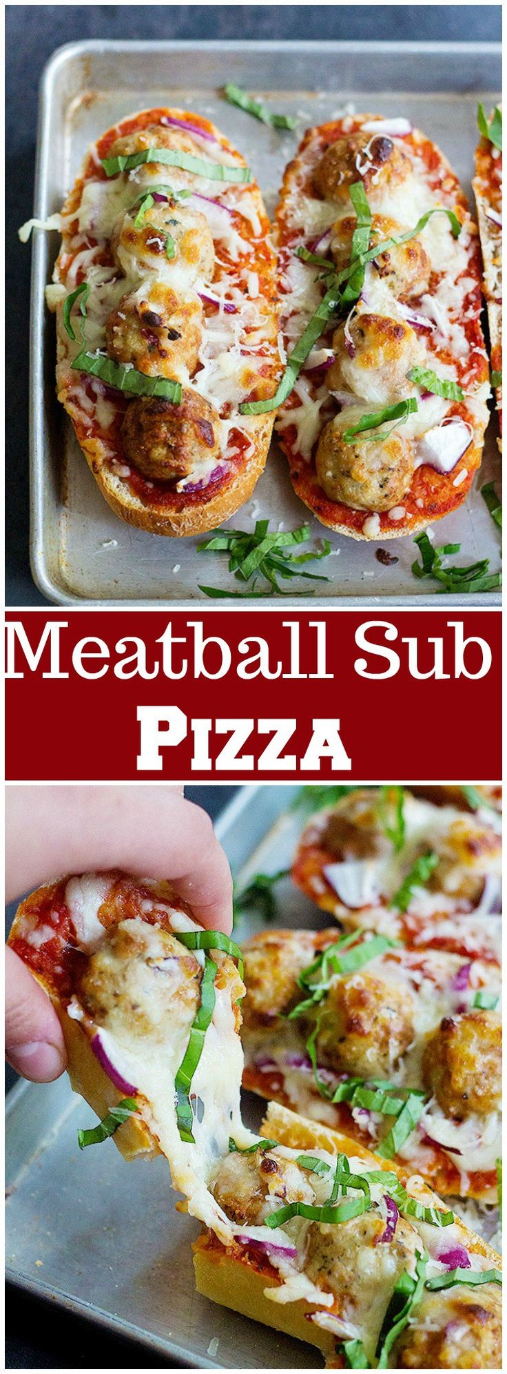Take the good old sub sandwich to a whole new level by making Meatball Sub Pizza! Kids and adults both love this easy family meal!