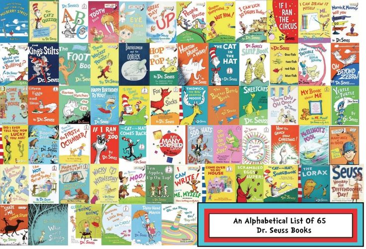 65 Books By Seuss: An Alphabetical List