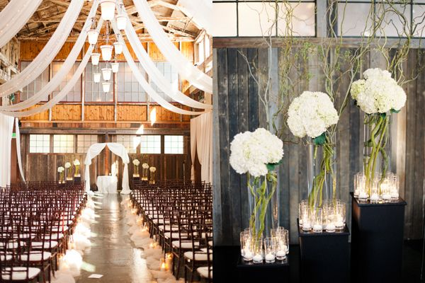 tulle and candlesCandles, Hydrangeas Centerpieces L O' V, Church Aisle, Pretty Flowers, Cool Ideas, Pretty Ideas, Hydrangea Centerpieces, Ceremonies Decor, Aisle Decor