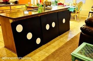 bunco tables! so cute