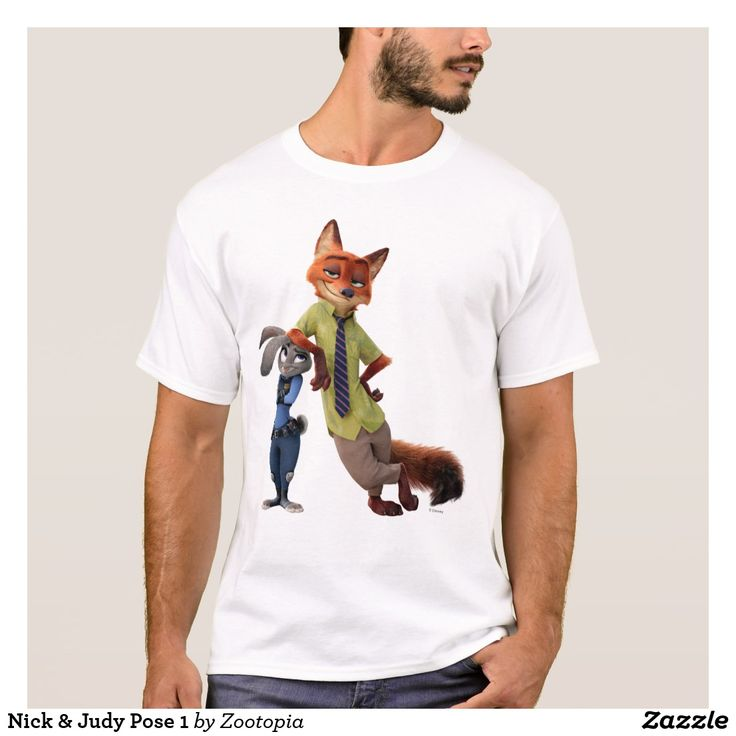 Nick & Judy Pose 1. Producto disponible en tienda Zazzle. Vestuario, moda. Product available in Zazzle store. Fashion wardrobe. Regalos, Gifts. Trendy tshirt. #camiseta #tshirt