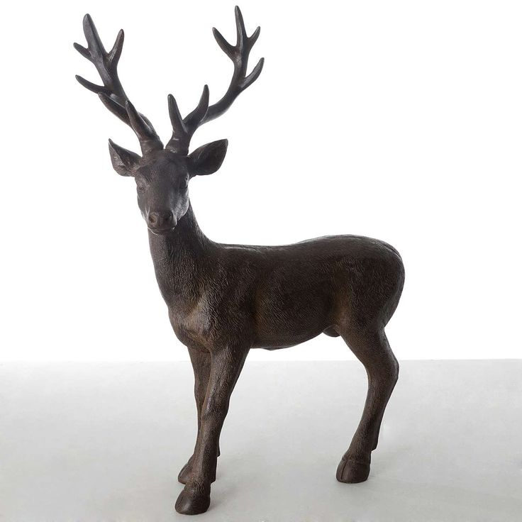 Brown Standing Stag Ornament | Dunelm