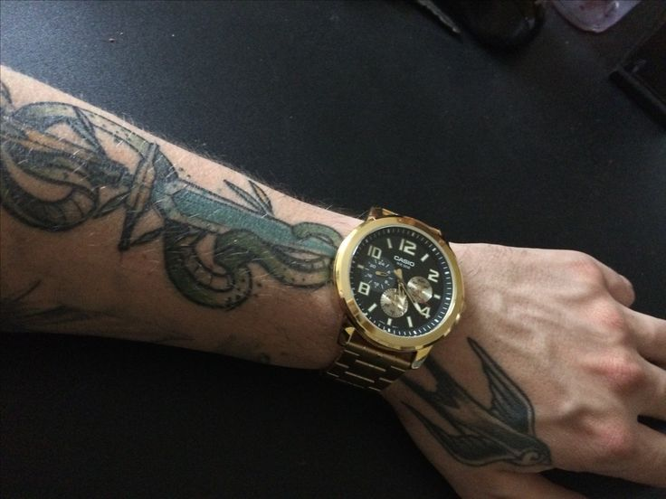 Casio gold watch tattoo