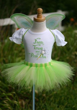 tinkerbell 1st birthday party | ... tinkerbell fairy tutu outfit, fairy birthday theme, halloween costume