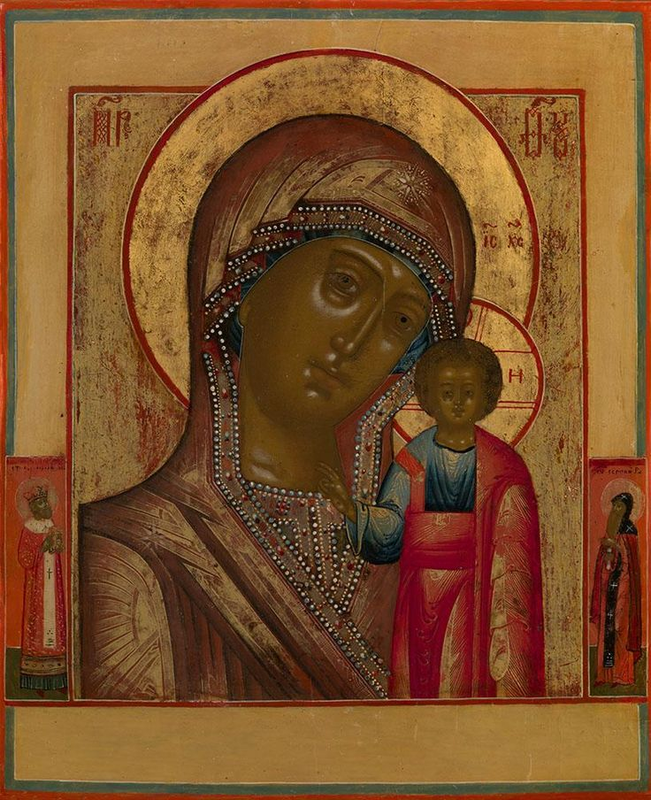 MOTHER OF GOD OF KAZAN WITH SELECTED SAINTS.  NEVYANSK, CIRCA 1800 TO FIRST HALF OF THE 19TH CENTURY