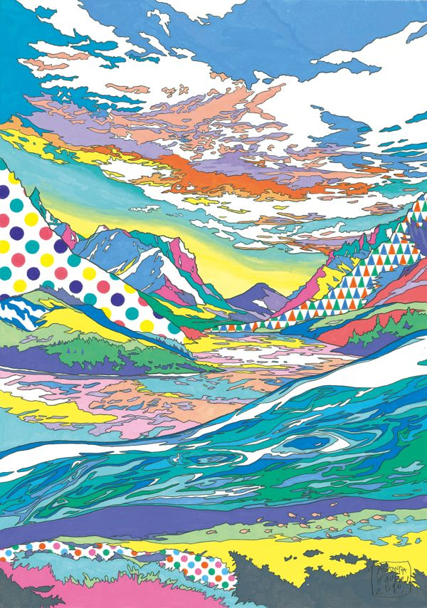 Landscapes by ASAKURA KOUHEI, via Behance #Travel #DanCamacho