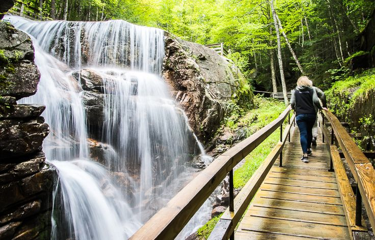 The Flume Gorge Hike in Franconia Notch State Park White Mountains New Hampshire