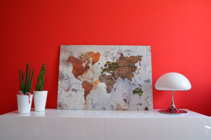Grunge Design World Map