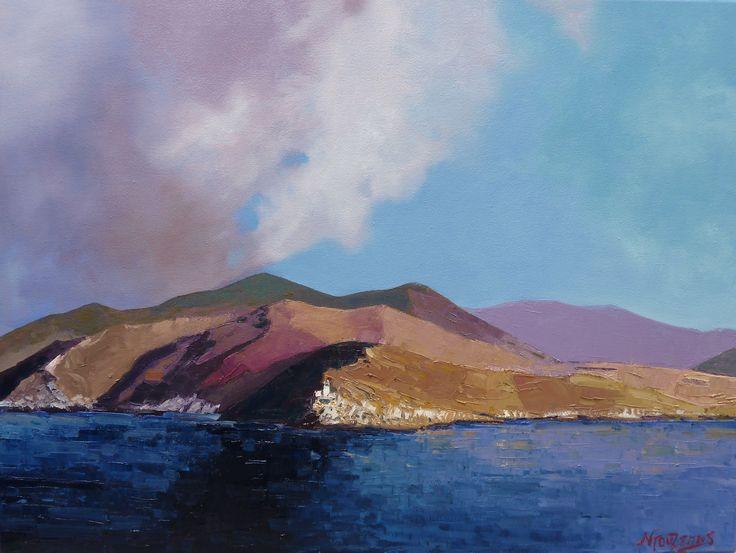 """""""Tainaron Laconia"""" 60x80cm oil painting by Babis Douzepis"""