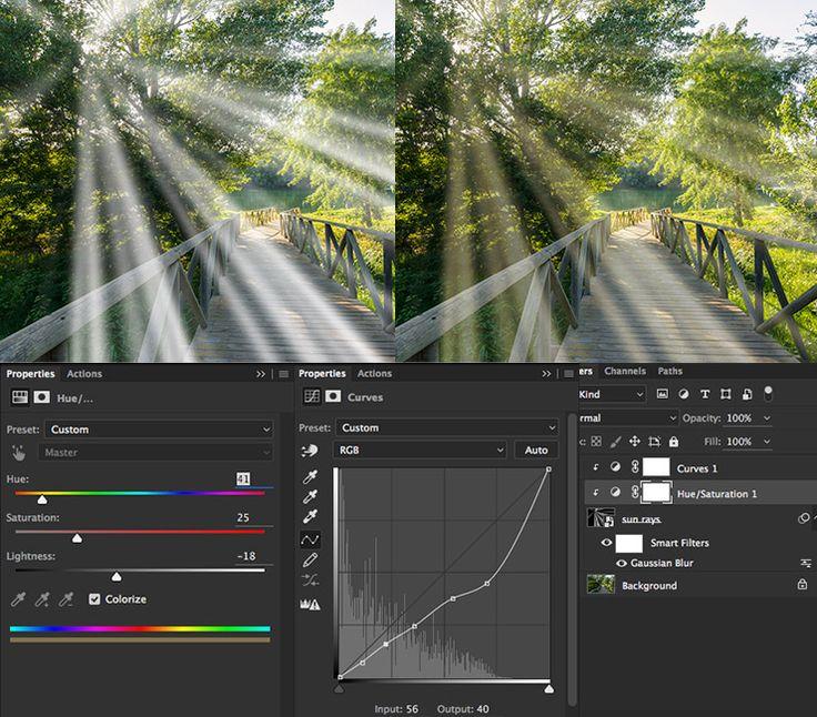 How to create sun rays in photoshop English    Español