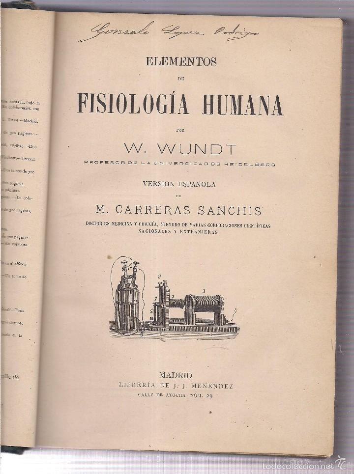 FISIOLOGIA HUMANA.  WUNDT