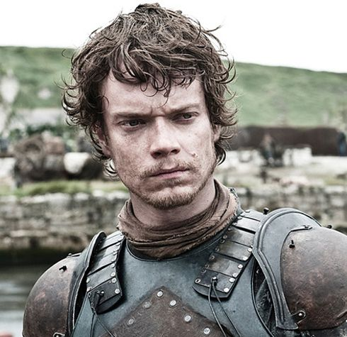 "Theon Greyjoy (Alfie Allen) ""Theon's pretty adorable, to be honest, in a rugged, fisherman-knight sort of way. Plus, he used to be very friendly and nice to the Starks, and all he really wanted was his dad's approval. But then he went crazy. And started killing people. And got his dick chopped off. And I lost interest."""