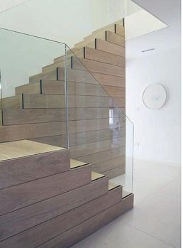 wooden staircase contemporay London