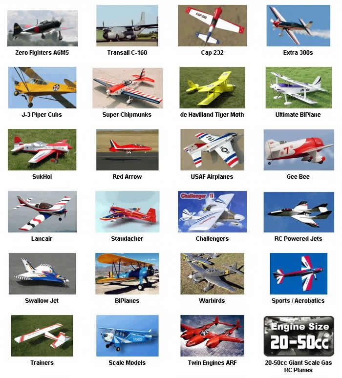 RC Airplanes Jets - The cheapest, easiest to fly and 100's of R/C airplane types to choose from.