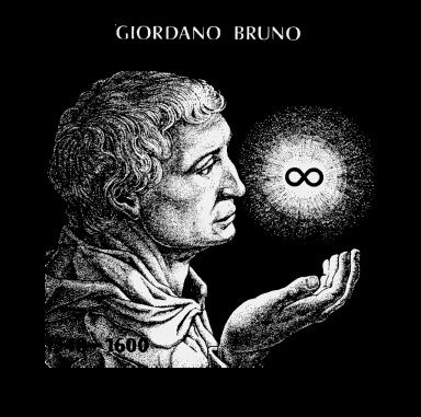 Giordano Bruno (1548-17 Febuary 1600) was an Italian Dominican friar, philosopher, mathematician, astrologer and astronomer. Regarded as a martyr for free thought and modern scientific ideas.