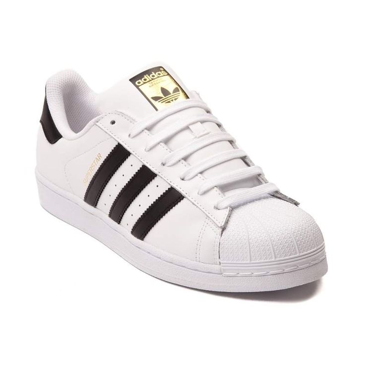 Step into the spotlight with the Superstar Sneakers from adidas! This  basketball inspired sneaker rocks a durable leather upper with classic  rubber shell ...