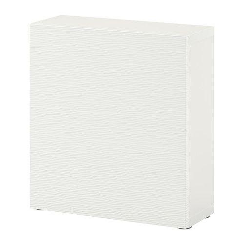 "BESTÅ Shelf unit with door - Laxviken white, 23 5/8x7 7/8x25 1/4 "" - IKEA"