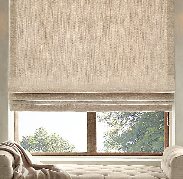 Perennials 174 Performance Textured Linen Weave Flat Roman