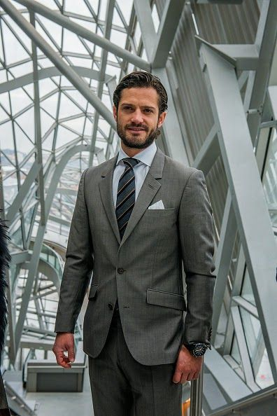 Prince Carl Philip of Sweden,visits the Lyon's Confluences Museum, science centre and anthropology museum. on 28.01.2015 in Lyon, France.