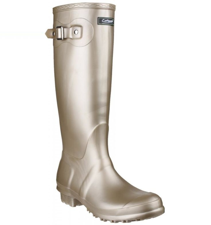 Get Festival ready with these Gold wellies from Cotswold!