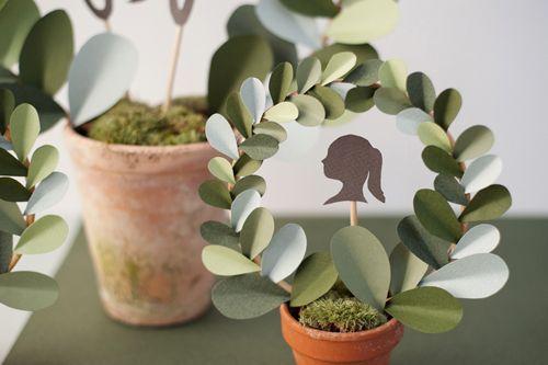 paper leaf topiarySummer Picnic, Topiaries Diy, Paper Leaf, Parties Stuff, Diy Tutorials, Leaf Topiaries, Paper Leaves, Paper Topiaries, Diy Paper
