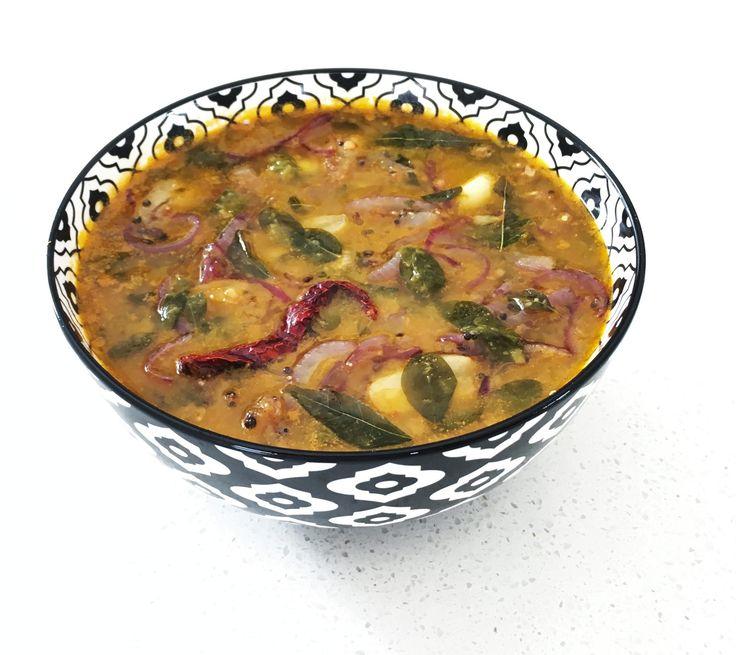 Drumstick leaflentil (sambar) - SpicyTamarind