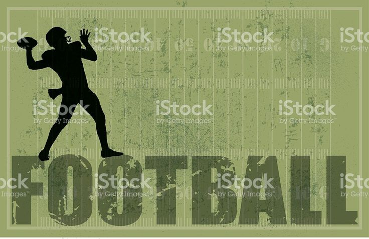 Football Background, QB Passing, Grunge royalty-free stock vector art