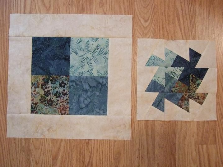 Tamarack Shack: Lil' Twister before and after to make twister blocks to use in a quilt or ?