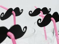 Decoración para una fiesta infantil, personalizar pajitas