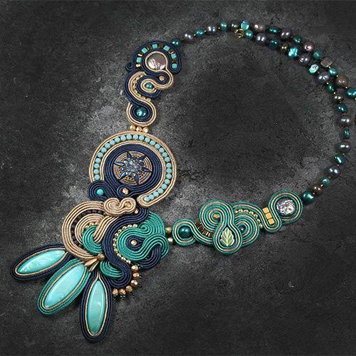 Joanna Kocur Djenka. Soutache necklace. www.polandhandmade.pl #polandhandmade #necklace #soutache