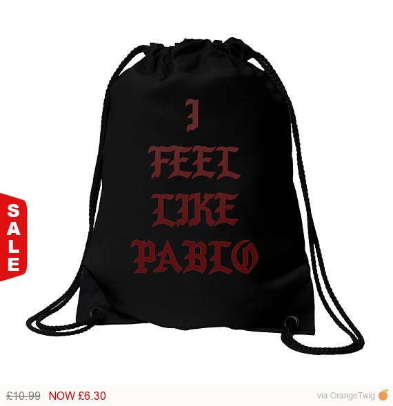 Sale - New Shop Introductory Offer! Sale - I Feel Like Pablo bag, Yeezy, Yeezus, The Life of Pablo, Pop Up Tour Merch, Pablo, bag, Black bag #AntiSocial #ClubBag #AntiSocialSocial #AntisocialGymBag #KanyeWestBag #AntisocialClub #Supreme #IFeelLikePablo #ConcertBag #KanyeWest
