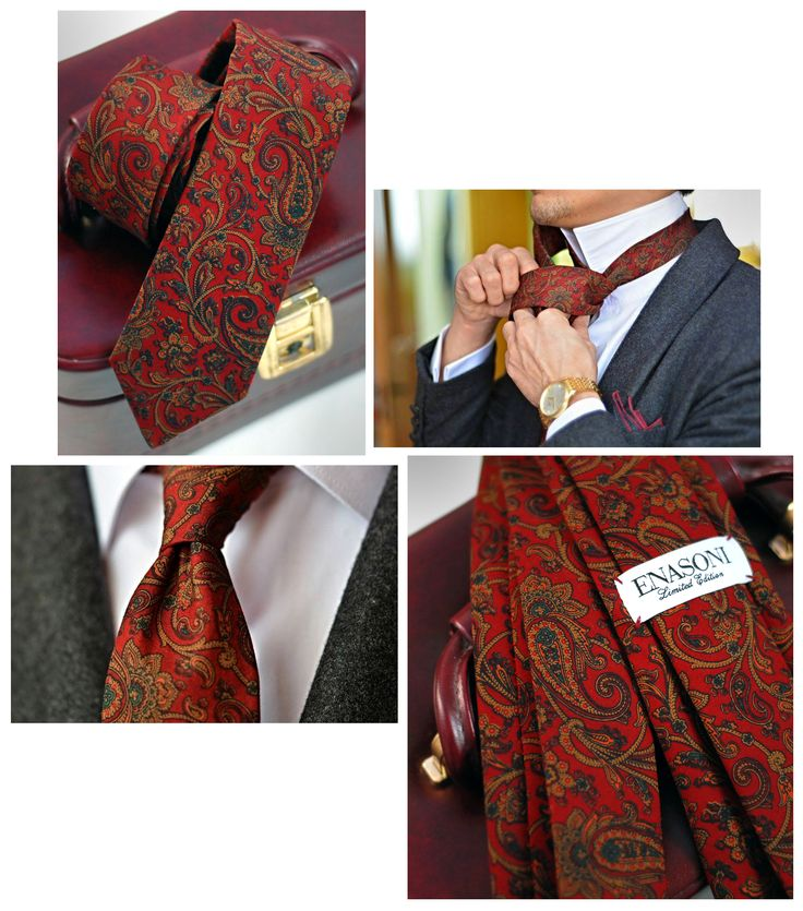 Custom-Made ENASONI tie made with vintage Ralph Lauren cloth produced in 1984.