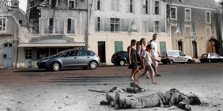 D-Day Landing Sites Then and Now: 11 Striking Images That Bring The Past And Present Together.