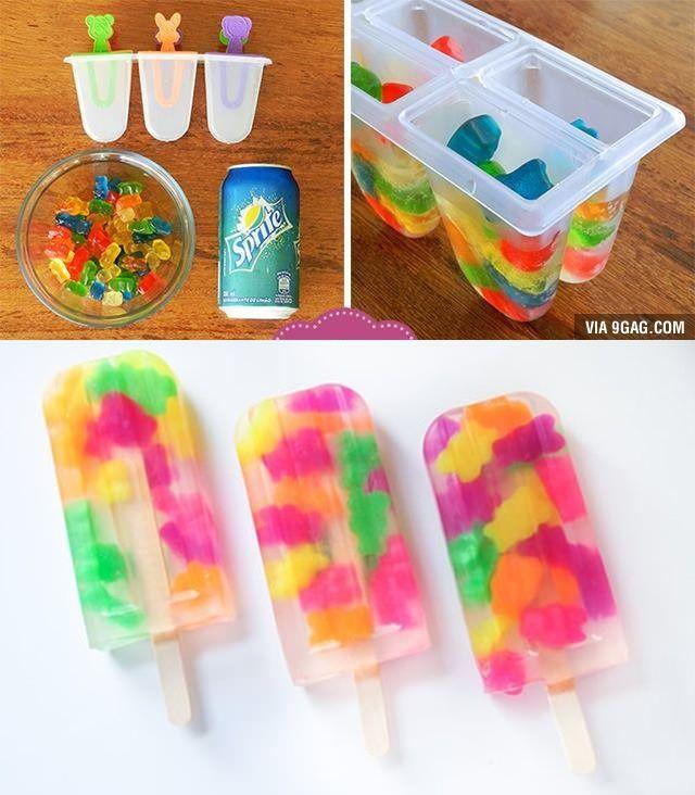 haribo beertjes met 7-up ijsje.