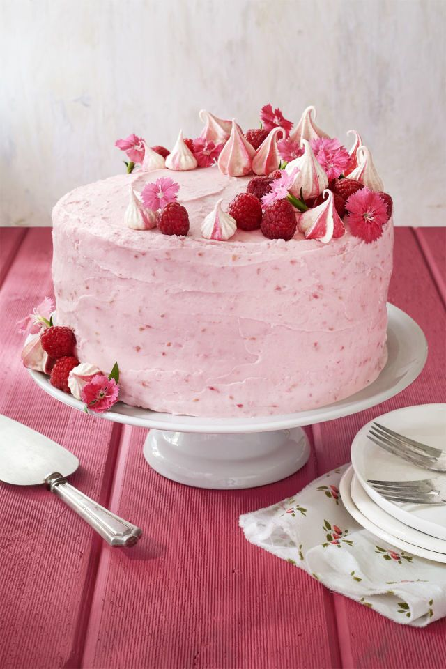 Here's a must-read article from Country Living: Raspberry Pink Velvet Cake with Raspberry Cream Cheese Frosting