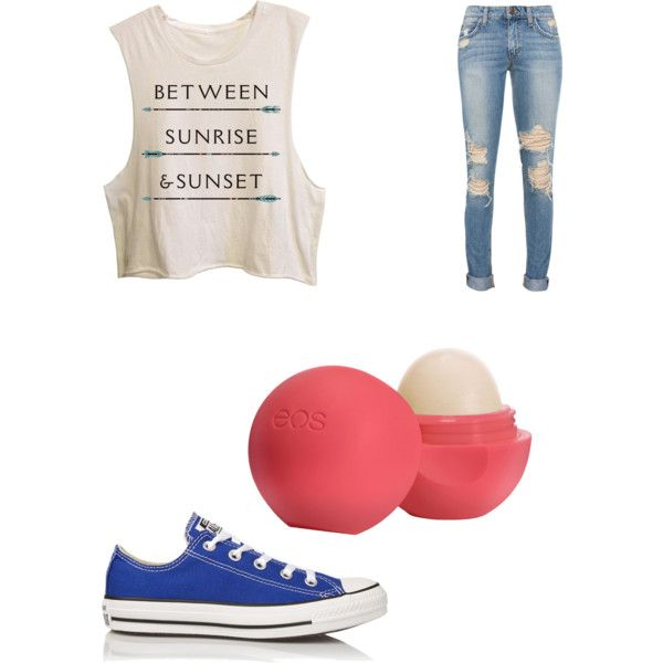 Hazel Grace outfit by pinkyfashionlover14love on Polyvore featuring polyvore, fashion, style, Converse and Eos