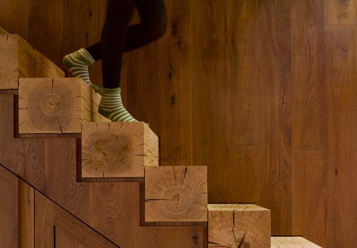 Oltre 25 fantastiche idee su gradini per scale su - Idee scale per interni ...