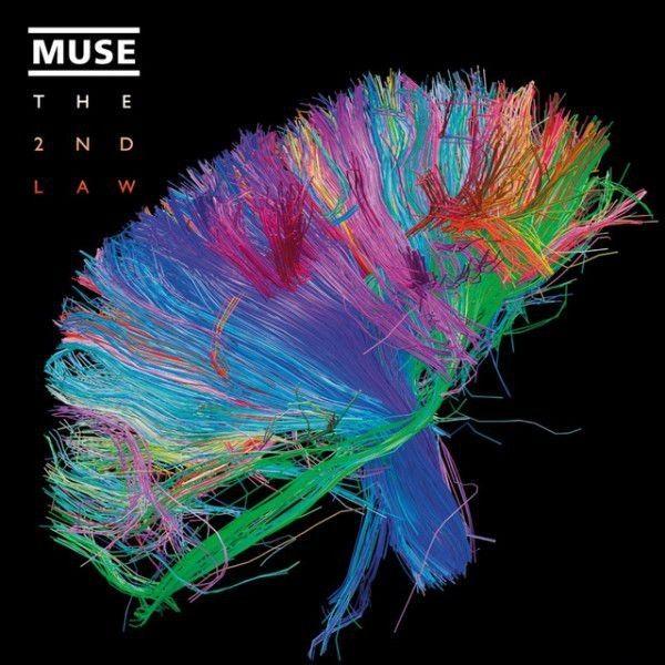 Muse ? The 2nd Law. La portada de su sexto álbum, de 2012, muestra un mapa de conexiones del cerebro humano.