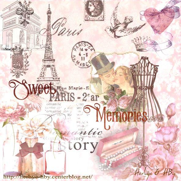 Vintage:affiche-Sweet Memories In Paris