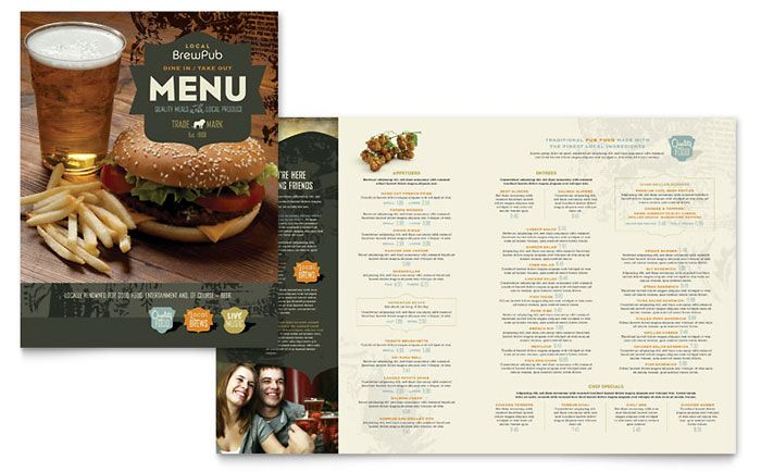 Brewery and Brew Pub Menu Template Design by StockLayouts
