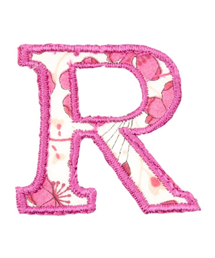 Liberty print letter r cool pinterest pink