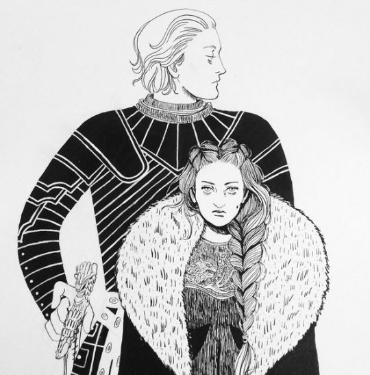 Brienne of Tarth and Sansa Stark by saramiela
