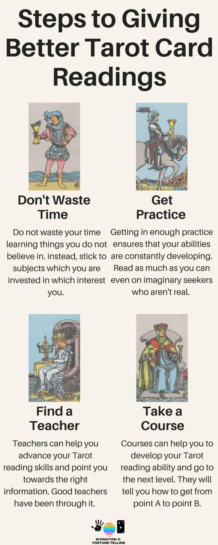 How to get better at reading tarot tarot card readers