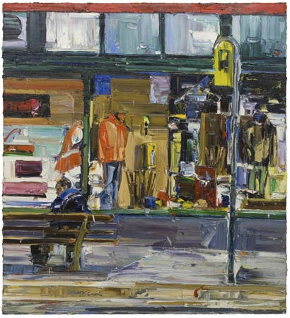 Nicholas HARDING Parramatta Road bus stop 168 x 153cm Oil Belgian linen