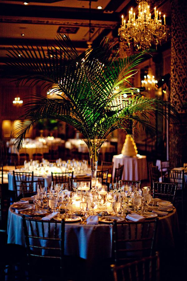 fern centerpiece idea.. not as big and tall though, want it smaller. inside the vases would be seashells
