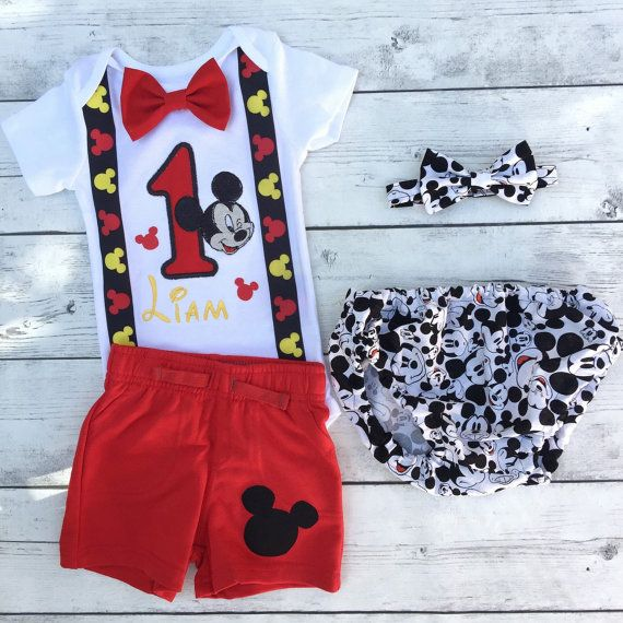 Mickey mouse primo compleanno outfit di BrilliancebyLandon