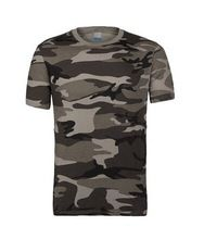 Mens Short Sleeve T-Shirts Outdoor Stretch Wear Gray Camouflage Apparel  best seller follow this link http://shopingayo.space