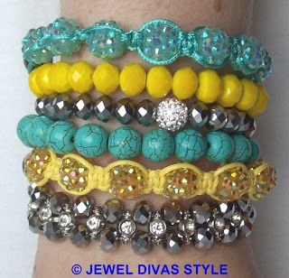"""JDS - How to make your own Samantha Wills """"Skies are Painted"""" bracelet stack  - http://jeweldivasstyle.com/designer-inspired-how-to-make-your-own-version-of-samantha-wills-skies-are-painted-bracelet-stack/"""
