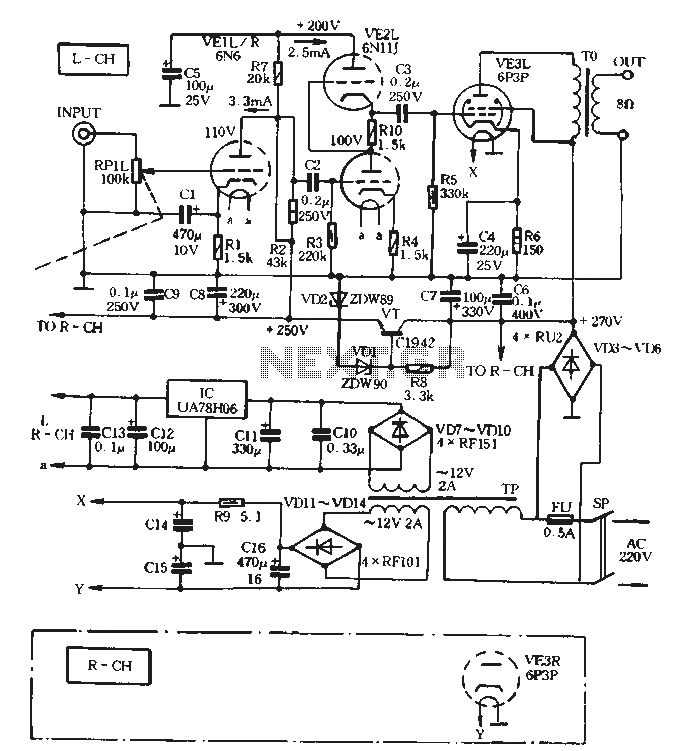 8w   8w tube amplifier circuit