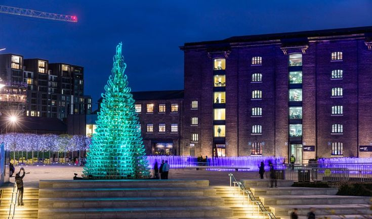 hello wood crafts meaningful christmas trees in london, manchester and budapest